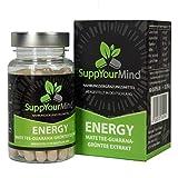 SuppYourMind ENERGY | Mate-Tee Guarana Grüntee Extrakt | natürliches Koffein ohne Zusatzstoffe - hergestellt in Deutschland | 100% vegan | 60 Kapseln