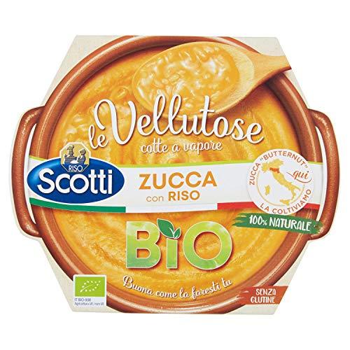 Riso Scotti - Vellutosa Zucca - Zuppa Vellutata di Zucca con Riso, Senza Glutine, Biologica - 270 gr