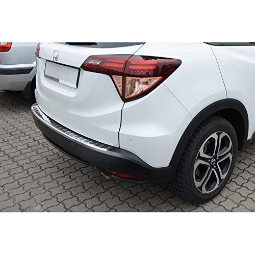Avisa Protection de seuil arrière inox compatible avec Honda HR-V 2015-2018 & FL 2018- 'Ribs'