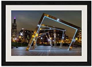 Mary Bartelme Park - Art Print Wall Black Wood Grain Framed Picture(20x14inch)