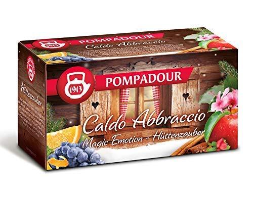 Pompadour 1913 Hot Infusion Abbraccio Fruit Blend Gearomatiseerd met Rozijnen, Rhum en Sinaasappel - 1 x 20 Theezakjes (60 gram)