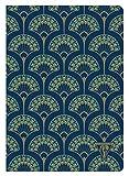 Clairefontaine 192236C - Un cahier piqué cousu fil Neo Deco 96 pages ivoire 14,8x21 cm 90g lignées, couverture carte pelliculée, motif ''paon'' bleu