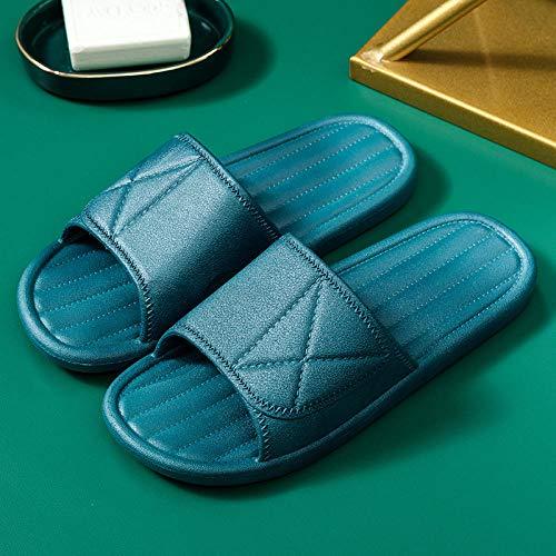 XZDNYDHGX Zapatos De Playa Y Piscina Verde Oscuro, Chanclas de Fondo Suave para el hogar de Verano para Mujer, Sandalias Antideslizantes para el hogar de baño para Parejas, EU 37-38