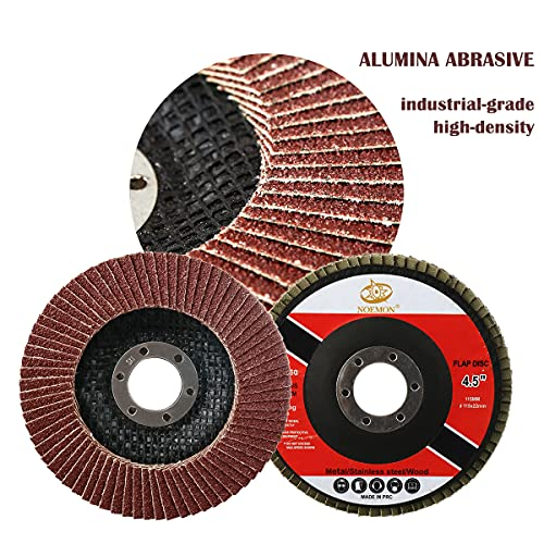 28 Packs Flap Disc 4-1 2 Inch Angle Grinder Attachments Grinding Wheel Angle Grinder Sanding Disc 40 60 80 120 Grit Grinding Disc (4 1/2 Inches)