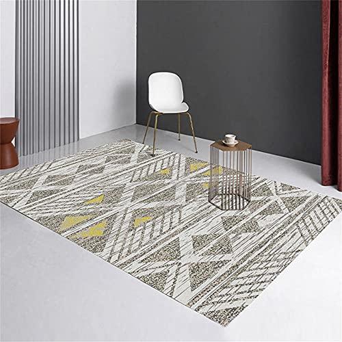 Alfombra Exterior Alfombra Exterior Diseño de geometría Moderna del triángulo Gris Amarillo IKEA Mesa Comedor 80X160cm