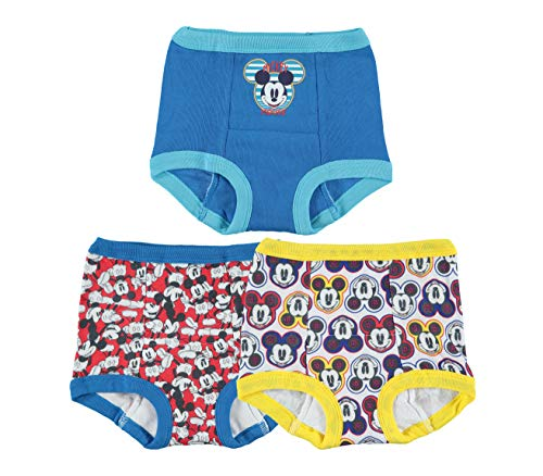 Disney Boys' Toddler Mickey Mouse 3pk Potty Training Pant, 4T