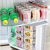 Z.L.FFLZ Aufbewahrungskiste Küche Kühlschrank Getränk Flaschenhalter Bier Soda Can...