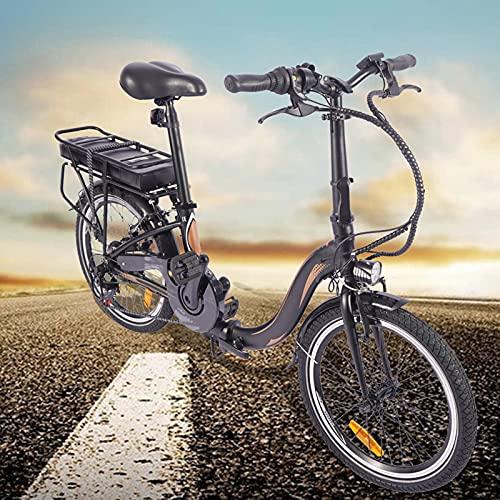 Bici electrica Plegable 20 Pulgadas E-Bike 7 velocidades Bicicleta eléctrica Inteligente Compañero Fiable para el día a día