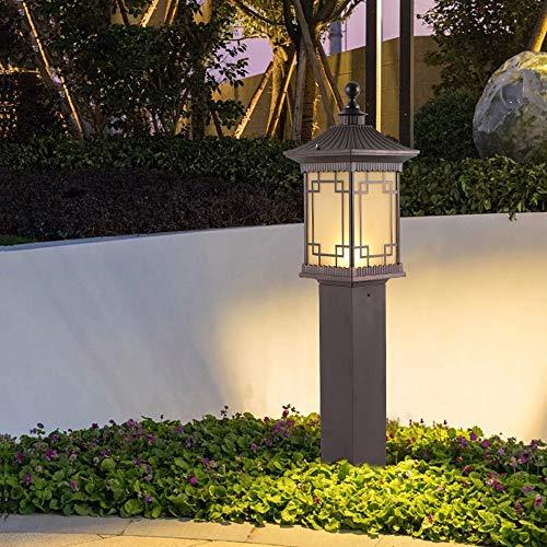 Im freien Wasserdichte Hof Licht Garten Rasen Boden Laterne Wohnlandschaft Leuchte Einfache Säule Lampe Rustikale Chinesische Aluminium E27 Teich Tor Säule Park Leitplanke Außenlandschaft Taschenlampe