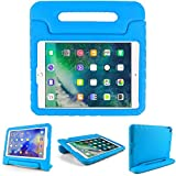 Kids Friendly Case for Amazon Kindle Fire HD 7 2019, Light-Weight EVA Soft Foam Durable Rugged Shockproof Kidsproof Foldable Convertible Handle Kickstand Cover for Teenages - Blue
