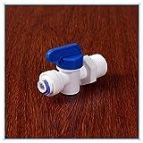 KHJK 1/2 Male - 1/4 Pulgadas OD Tubo PE Accesorio de tubería de retrolavado Controlada Filtro Válvula de Bola de Acuario de Agua del RO Sistema de ósmosis inversa