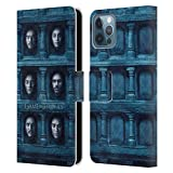 Head Case Designs Ufficiale HBO Game of Thrones Sei Teste Volti Cover in Pelle a Portafoglio Compatibile con Apple iPhone 12 / iPhone 12 PRO