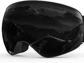 ZIONOR X Ski Snowboard Snow Goggles OTG Design for Men Women with Spherical Detachable Lens UV Protection Anti-Fog