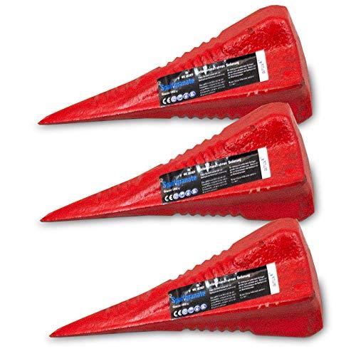 BITUXX® Spaltkeil Spaltgranate Holzspalter Spalter Spaltwerkzeug Keil Spaltkreuz1800gr (3X Spaltgranate)