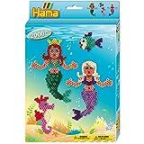 Hama 3431 - Perlenset Meerjungfrau, ca. 2000 Bügelperlen, 1 Stiftplatte und Zubehör