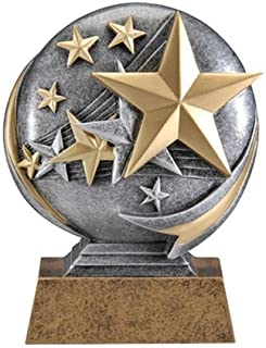 Decade Awards Stars Motion Extreme 3D Resin Trophy - Star Student Award - 5 Inch Tall - Engraved Plate on Request