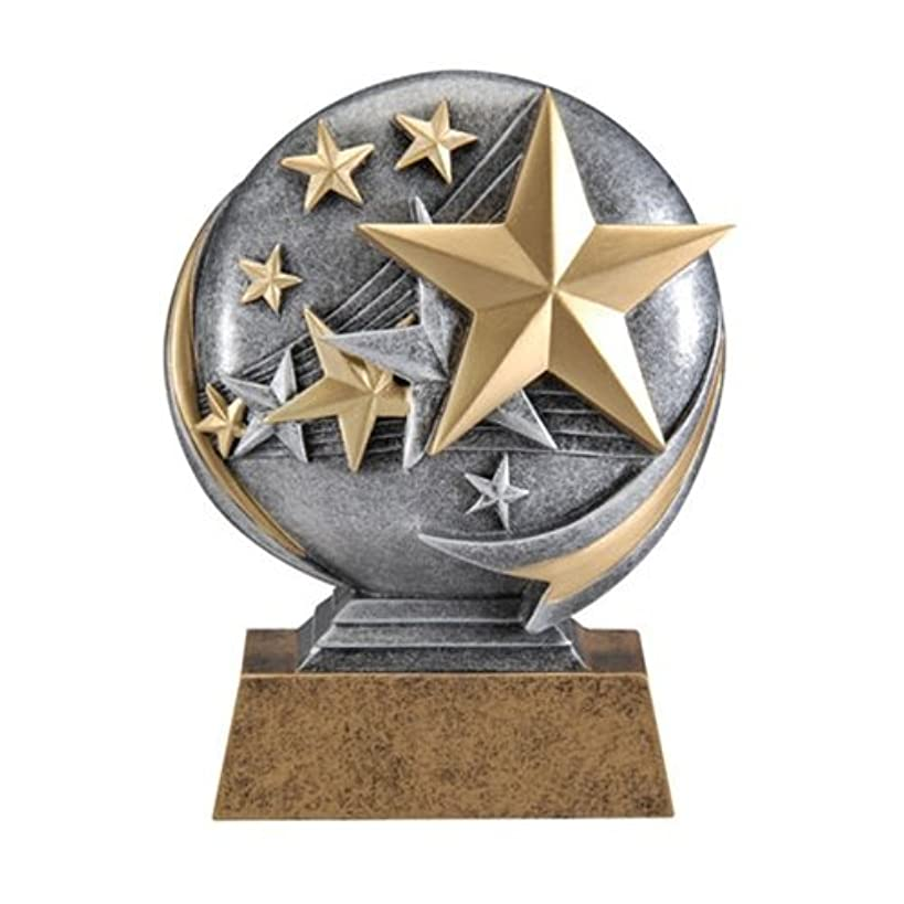 Decade Awards Stars Motion Extreme 3D Resin Trophy   Star Student Award   5 Inch Tall - Free Engraved Plate on Request
