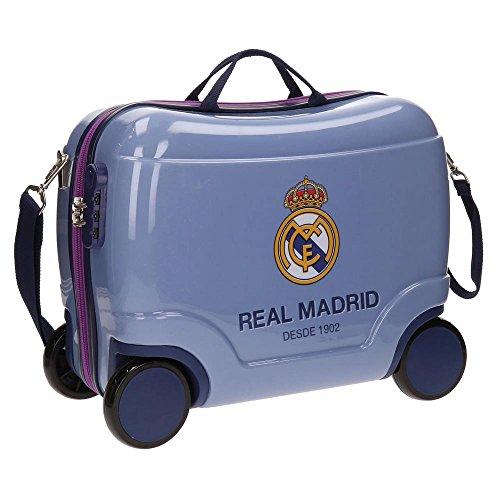 Maleta Infantil Correpasillos Real Madrid 4 Ruedas 41cm