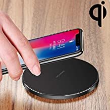 NSK LLP GY-68 Ultra-Thin Aluminum Alloy Wireless Fast Charging Qi Charger Pad (Black) (Color : Black)