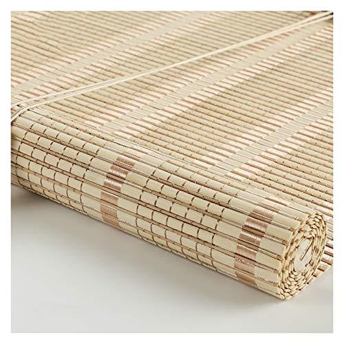CHAXIA Bambú Persiana Ventana Enrollable, Porche Colgar Cuadros Luz De Cubierta Proteccion Solar Cortina De Puerta Cortina De Partición Tirar De La Cuerda Aumento Soltar, 2 Colores Varios Tamaños