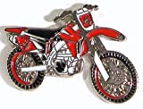 Pin de Metal esmaltado, Insignia Broche Moto Cross Enduro juicios Rastro Verde carriles para Bicicleta Motocicleta (Rojo)