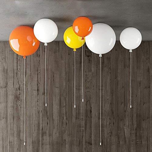 Irinay e27162 Farbe Luftballons Kinderzimmer Jungen Und Kreative Restaurant Schlafzimmer Licht Lampe Led Decke Wand Leuchten Orange Mit Kleinem Durchmesser 20 Cm (Color : Colour-Size)