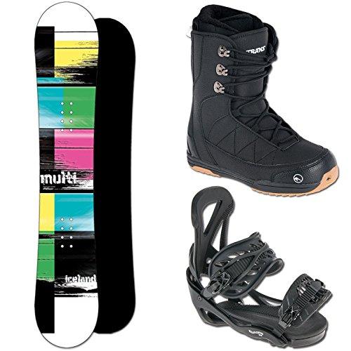 Iceland Snowboard Set Multi 147 cm + ELFGEN Team SMO BINDUNG Black M + Boots