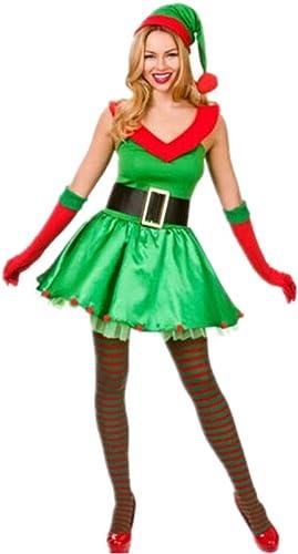precio al por mayor CVCCV Tejido de poliéster poliéster poliéster con Cuello de Pico Atractivo Vestido de Navidad Sexy Juego de la Fiesta de Navidad Tejido de poliéster Adecuado para mujeres  40% de descuento