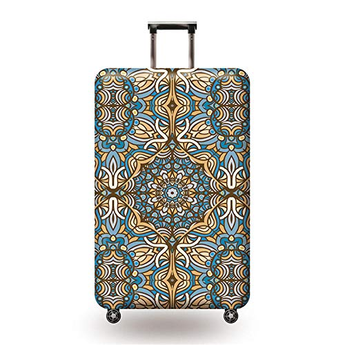 Travel Luggage Cover Suitcase Protector Elastic Trolley Case Protective Cover Fits L:26-28 inch (Pattern)