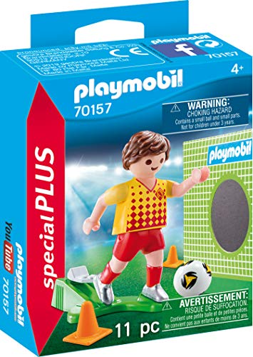 Playmobil 70157 Special Plus Football Player with Goal Wall, Colourful