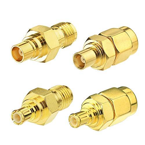 Eightwood Antennenadapter Kit MCX auf SMA 4 Typ für Wirelesse WiFi Router Antenne WLAN LAN GPS MEHRWEG