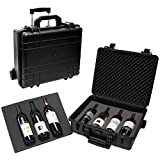 T.Z. Case International T.z 7-Bottle Wheeled Wine Case, Molded Polypropylene,...