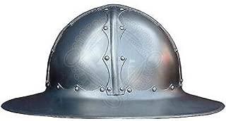Medieval Kettle Hat Helmet Reenactment LARP Role-Play Infantry Spanish Helm White