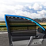 aokway Car Side Window Sun Shade, Universal Magnetic Curtain for Baby and Kids with Sun UV Protection, Reduce Damage from Direct Bright Sunlight and Heat 2pcs (Black-Front Mesh)