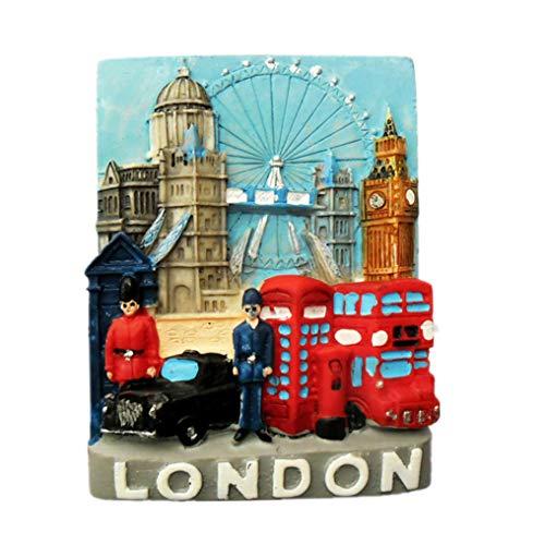MUYU Magnet 3D-Kühlschrankmagnet, London, UK-Souvenir, Heim- und Küchendekoration, London-Kühlschrankmagnet.
