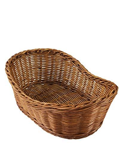 Cestas de mimbre tejidas para servir pan, frutas, verduras, restaurantes y vitrinas de mesa