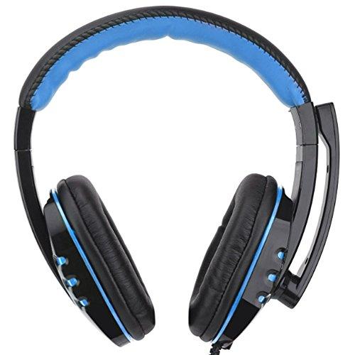 Gaming-Headset mit Mikrofon für PS4, Xbox One, 3,5 mm Kabel, Kopfhörer, Bass, Computer Lautstärkeregler, für Sony PS4, PC, Tablet, Laptop, Smartphone, Xbox One S Schwarz und Schwarz