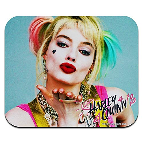 Birds of Prey Harley Quinn Blowing Kisses Low Profile Thin Mouse Pad Mousepad