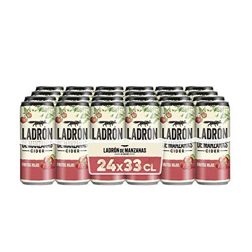 Ladrón de manzanas Cider frutos rojos pack 24 latas 33cl