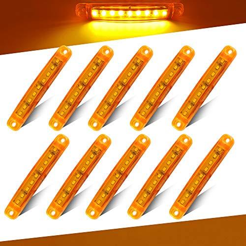 Teguangmei 10pcs Amarillo 9LED Luces de Señalización del