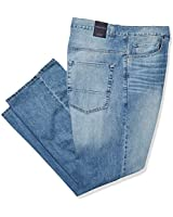 Nautica Men's Big and Tall 5 Pocket Relaxed Fit Stretch Jean, Hook Line Blue, 46W 32L
