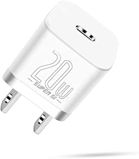 Baseus 20W iphone12充電器 Type-C USB-C 急速充電器 PD3.0対応 iPhone 12 Pro Max Mini、iPad Air 4、iPad Pro 2020、iPhone 11 Pro Max、iPhone...