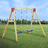 vidaXL Madera de Pino Set de Columpios Parque Infantil de Individuales de Jardín Patio al Aire Libre de Exterior para Niños Fácil Instalación