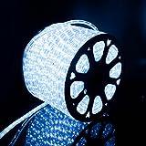 Kefflum 50M LED Luminoso Illuminazione Strisce LED Natale per Esterno e Interno Bianco Freddo IP65 [Classe di efficienza energetica A]