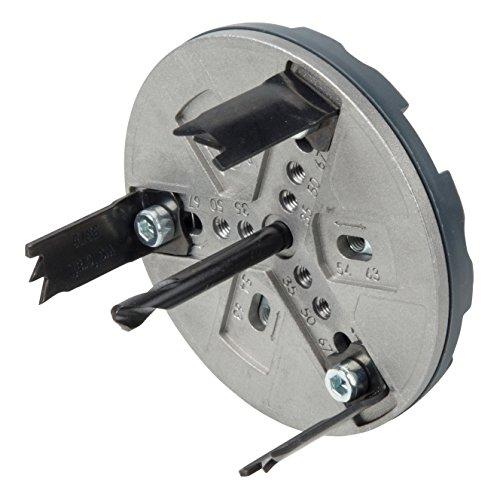 Wolfcraft Sanitär 5984000 Gatenzaag, verstelbare boorkrans voor accuschroevendraaier en boormachine, sanitaire voorzieningen in gipsplaten en hout, Ø 35, 50, 54, 63, 67 en 83mm