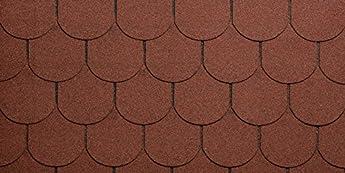 Foto di Tegola Canadese Spa 2113080092013 Tegola bituminosa granigliata Rossa, Rosso, Set di 16 Pezzi