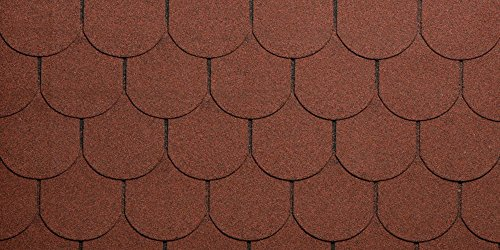 Eco Roof Cubierta para tejado, Bituminosa, granagliata, rojo