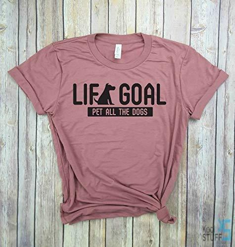 Life Goal Pet All the Dogs - Black Label - Dog Mom shirt, Dog Mom Gift, Gym tank, Yoga Shirt, Womens Shirt, Funny Workout Shirt, weight lifting Shirt