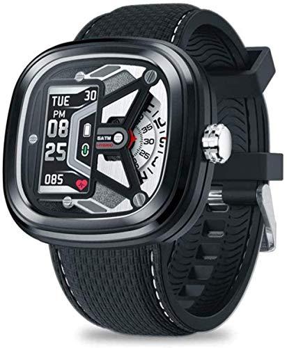 JSL Reloj inteligente híbrido de moda 2 0.96 50 m impermeable con frecuencia cardíaca y control de presión arterial reloj mecánico para hombres ser diferente-A-A