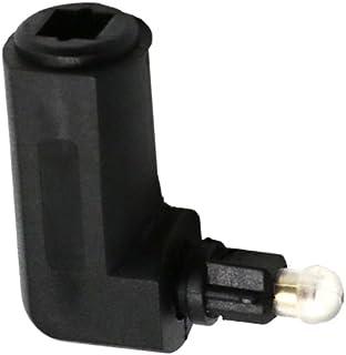 KESOTO Conector óptico Digital Tos para Adaptador de áudio de 90 Graus Miniplugue de 3,5 Mm